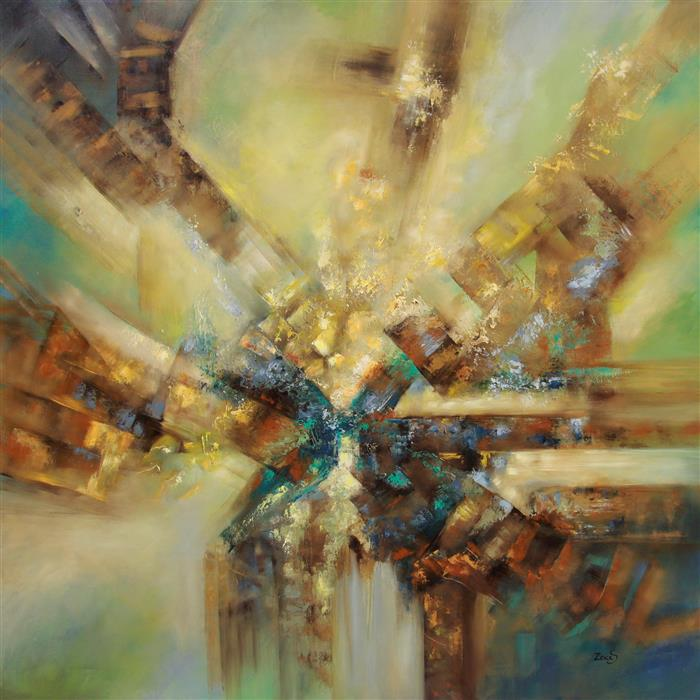 Original art for sale at UGallery.com | Deep Visions by SANDRA ZEKK | $4,150 | Oil painting | 40' h x 40' w | http://www.ugallery.com/oil-painting-deep-visions