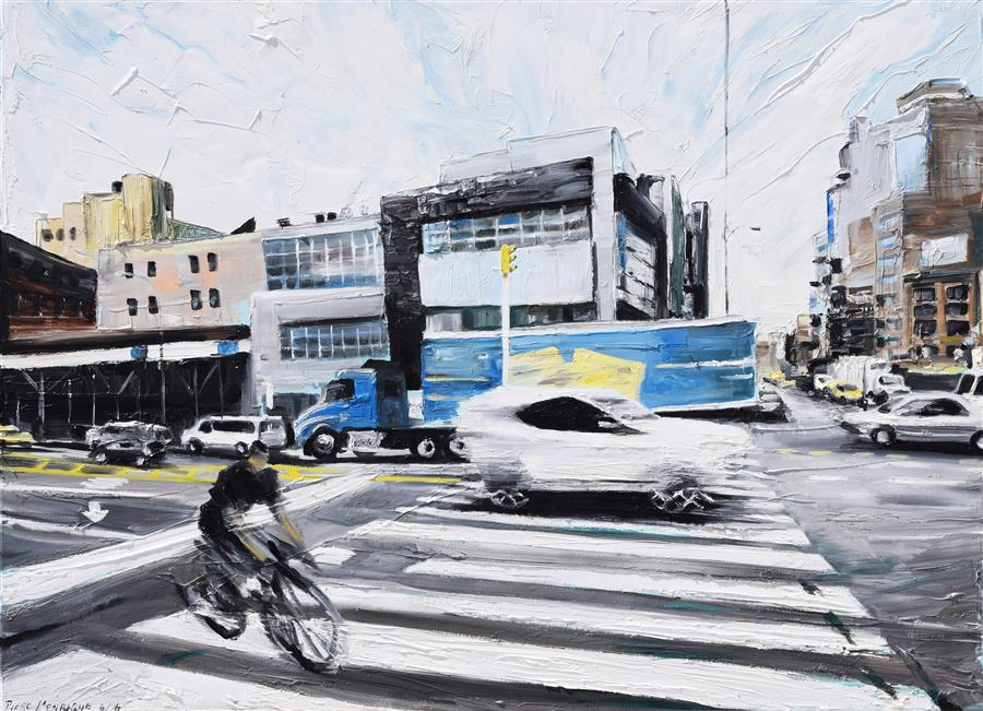 Original art for sale at UGallery.com | On the Road by PIERO MANRIQUE | $1,875 | Oil painting | 30' h x 40' w | http://www.ugallery.com/oil-painting-on-the-road