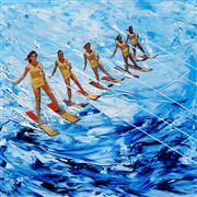 Pop art,Seascape art,Sports art,Representational art,Vintage art,mixed media artwork,Rough Lagoon Ride