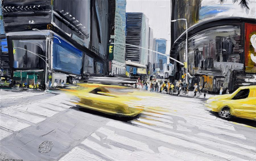 Original art for sale at UGallery.com | Times Fly by PIERO MANRIQUE | $2,250 | Oil painting | 30' h x 48' w | http://www.ugallery.com/oil-painting-times-fly