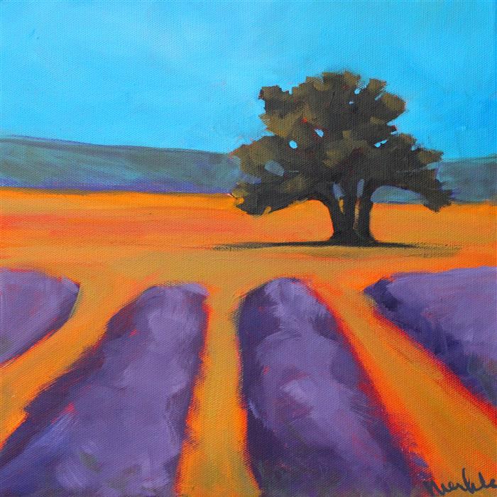Discover Original Art by Nancy Merkle | Oak and Lavender acrylic painting | Art for Sale Online at UGallery