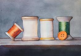 Still Life art,Representational art,watercolor painting,Autumn Breeze