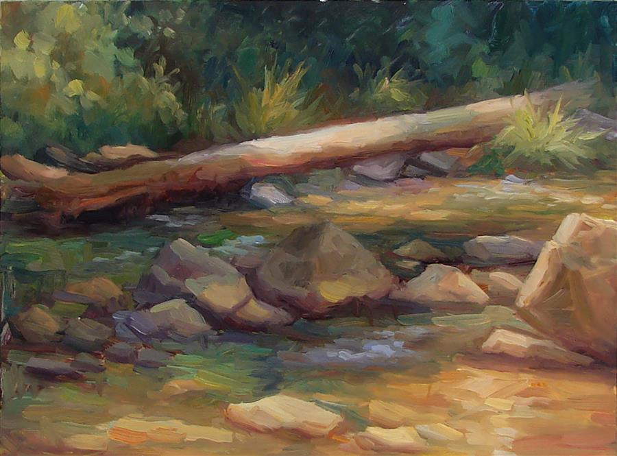 Original art for sale at UGallery.com | Fallen Tree by SHERRI ALDAWOOD | $475 | Oil painting | 12' h x 16' w | http://www.ugallery.com/oil-painting-fallen-tree