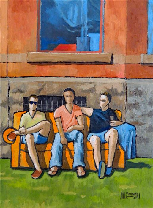 Discover Original Art by Robert  Holewinski | Lambda Chi Alpha, Toronto oil painting | Art for Sale Online at UGallery
