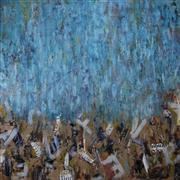 Abstract art,Street Art art,Non-representational art,mixed media artwork,Blue Abstract G