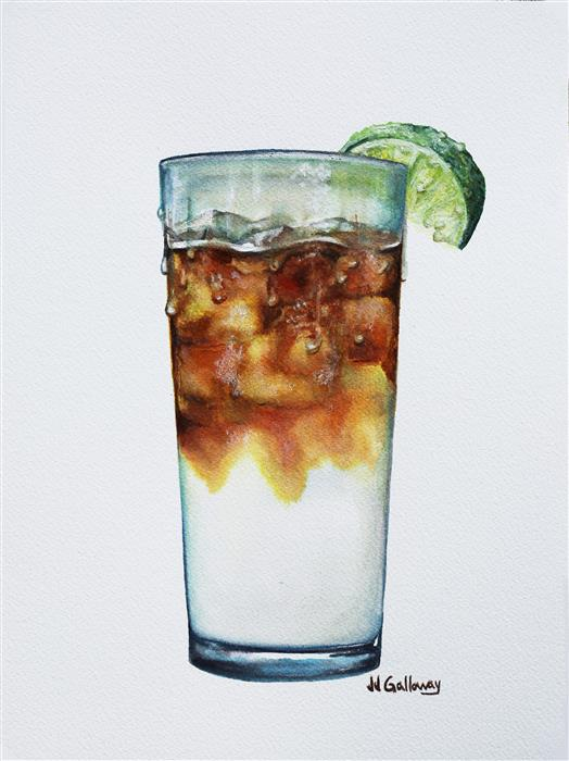 Original art for sale at UGallery.com | Dark and Stormy by JJ GALLOWAY | $300 | Watercolor painting | 12' h x 9' w | http://www.ugallery.com/watercolor-painting-dark-and-stormy
