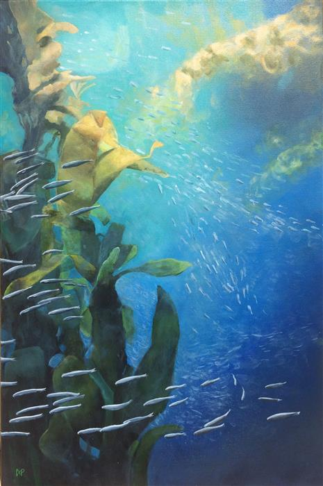 Original art for sale at UGallery.com | Kelp Forest by ANASTASIA PIMENTEL | $1,025 | Acrylic painting | 36' h x 24' w | http://www.ugallery.com/acrylic-painting-kelp-forest