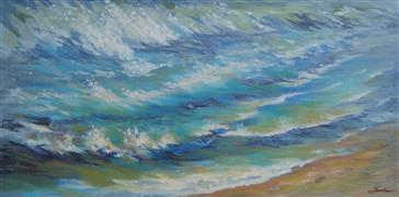 Impressionism art,Seascape art,Representational art,oil painting,Salt Rising III