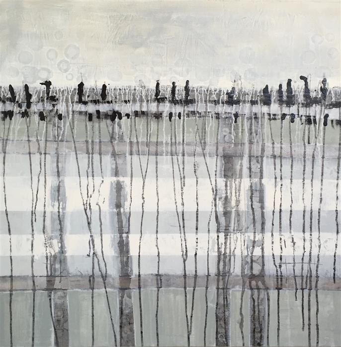 Original art for sale at UGallery.com | Great Marsh by PAT FORBES | $1,375 | Acrylic painting | 36' h x 36' w | http://www.ugallery.com/acrylic-painting-great-marsh