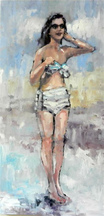 Discover Original Art by Mary Pratt | Vintage Gal oil painting | Art for Sale Online at UGallery