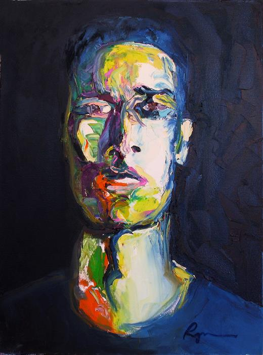 Original art for sale at UGallery.com | A Lean and Hungry Look by RACHAEL RYAN | $1,100 | Oil painting | 24' h x 18' w | http://www.ugallery.com/oil-painting-a-lean-and-hungry-look