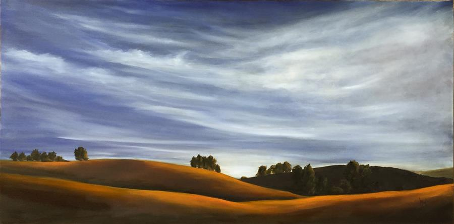 Discover Original Art by Mandy Main | Golden Hills XI oil painting | Art for Sale Online at UGallery