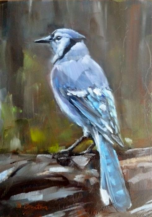 Original art for sale at UGallery.com | Blue Jay by GARY BRUTON | $300 | Oil painting | 7' h x 5' w | http://www.ugallery.com/oil-painting-blue-jay