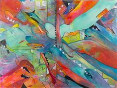 Fantasy art,Pop art,Representational art,Primitive art,mixed media artwork,Beyond What Is Usual