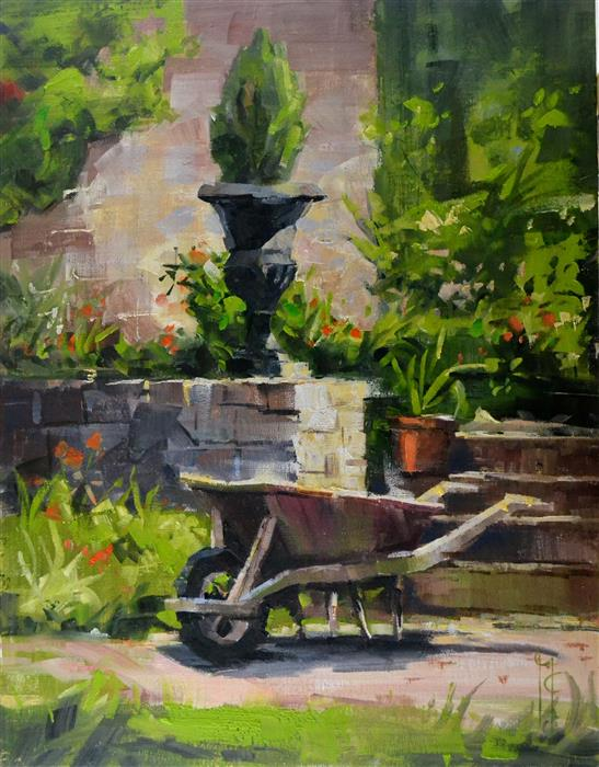 Discover Original Art by Garry Colby | Paris Garden Decor oil painting | Art for Sale Online at UGallery