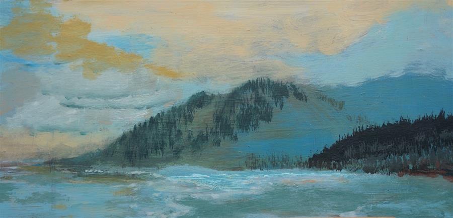 Original art for sale at UGallery.com | Coastal Memory ll by SIDONIE CARON | $2,825 | Acrylic painting | 15.5' h x 32.5' w | http://www.ugallery.com/acrylic-painting-coastal-memory-ll