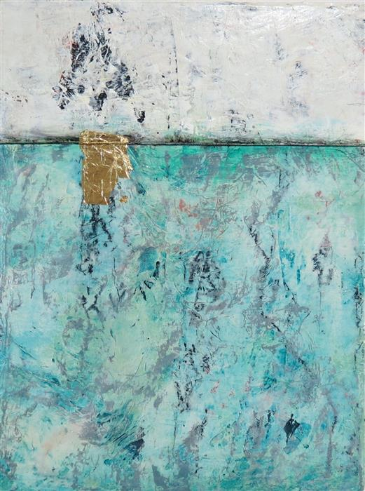 Original art for sale at UGallery.com | Blue Ice by TERI MUSE | $300 | Mixed media artwork | 16' h x 12' w | http://www.ugallery.com/mixed-media-artwork-blue-ice
