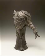 Animals art,Representational art,sculpture,Black Bird Teapot