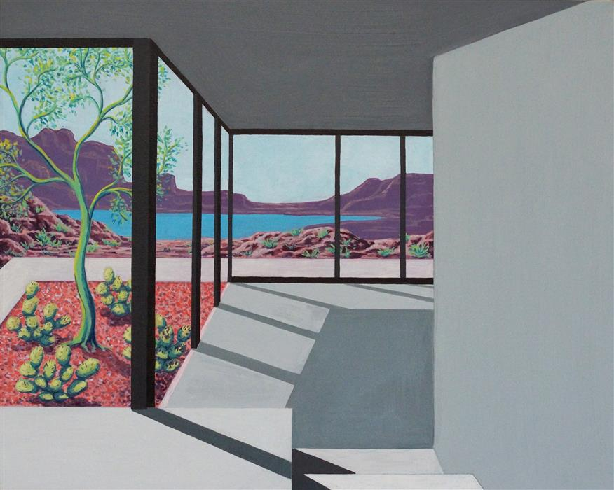 Original art for sale at UGallery.com | Rock Garden (Architected Landscape 17) by JESSICA ECKER | $1,100 | Acrylic painting | 16' h x 20' w | http://www.ugallery.com/acrylic-painting-rock-garden-architected-landscape-17