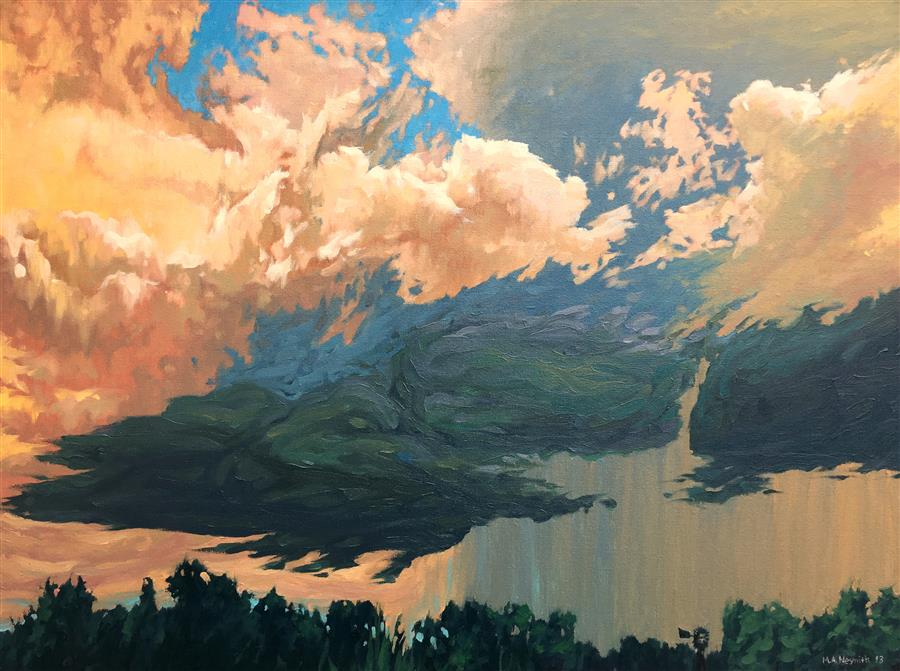 Original art for sale at UGallery.com | Approaching by MARK NESMITH | $2,175 | Oil painting | 30' h x 40' w | http://www.ugallery.com/oil-painting-approaching