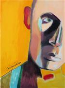 People art,Representational art,Modern  art,oil painting,Saffron