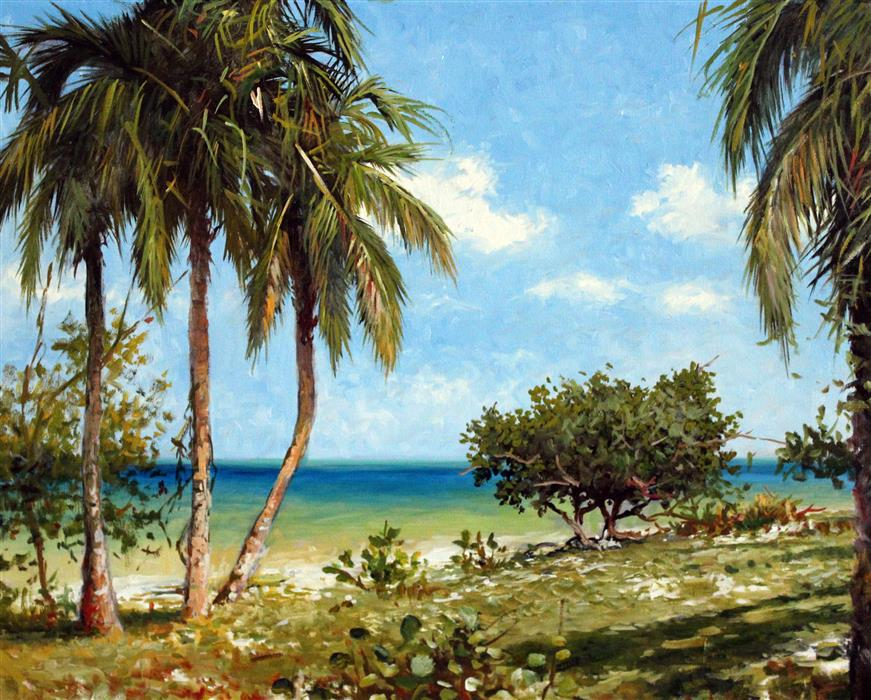 Original art for sale at UGallery.com | Florida Keys by KENT SULLIVAN | $1,175 | Oil painting | 16' h x 20' w | http://www.ugallery.com/oil-painting-florida-keys-46142