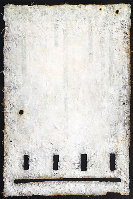 Original art for sale at UGallery.com | IG174 (Skyline Flaw) by DANIIL ALIKOV | $2,125 | Mixed media artwork | 36' h x 24' w | http://www.ugallery.com/mixed-media-artwork-ig174-skyline-flaw