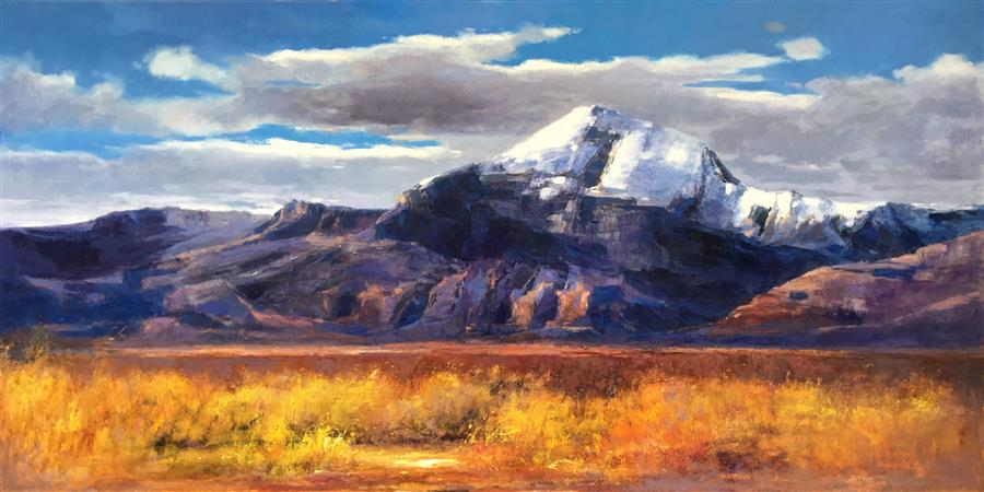 Discover Original Art by Jingshen You   Splendid Snow Mountain 3 oil painting   Art for Sale Online at UGallery