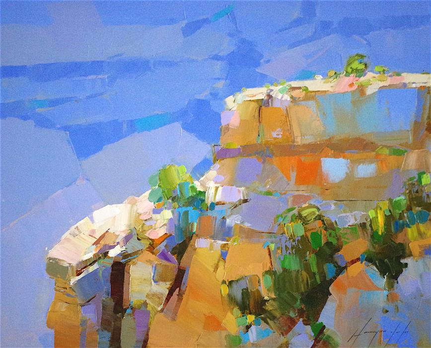 Original art for sale at UGallery.com | Cobalt Grand Canyon by VAHE YEREMYAN | $775 | Oil painting | 16' h x 20' w | http://www.ugallery.com/oil-painting-cobalt-grand-canyon