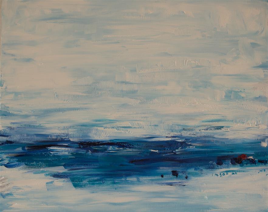Original art for sale at UGallery.com | Somewhere..Feeling Content! by KAJAL ZAVERI | $500 | Oil painting | 16' h x 20' w | http://www.ugallery.com/oil-painting-somewhere-feeling-content