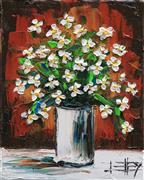 Impressionism art,Still Life art,Flora art,Representational art,oil painting,Honesty