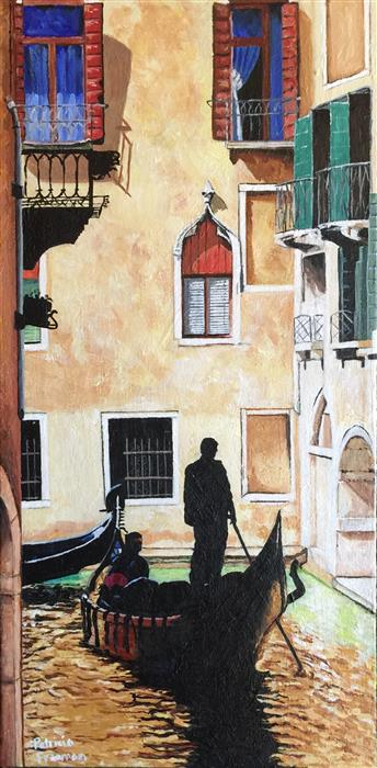 Original art for sale at UGallery.com | The Flooded Streets of Venice by PATRICIA FREEMAN | $450 | Acrylic painting | 20' h x 10' w | http://www.ugallery.com/acrylic-painting-the-flooded-streets-of-venice