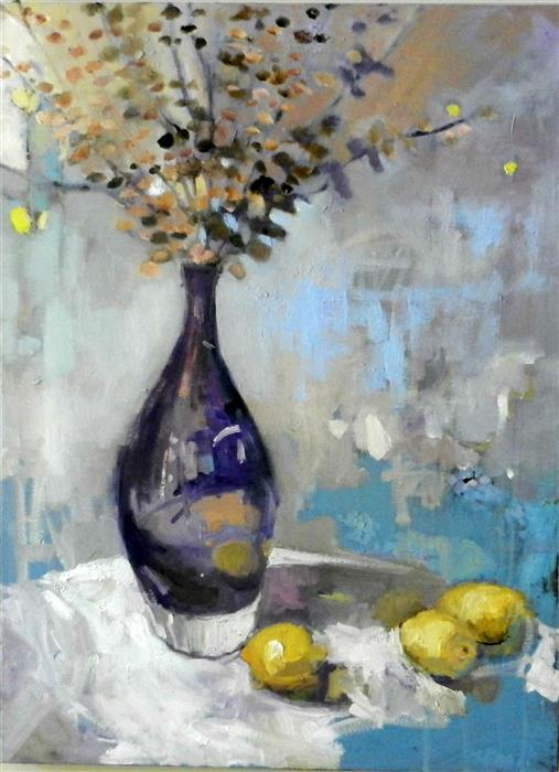 Discover Original Art by Mary Pratt | Purple Vase oil painting | Art for Sale Online at UGallery
