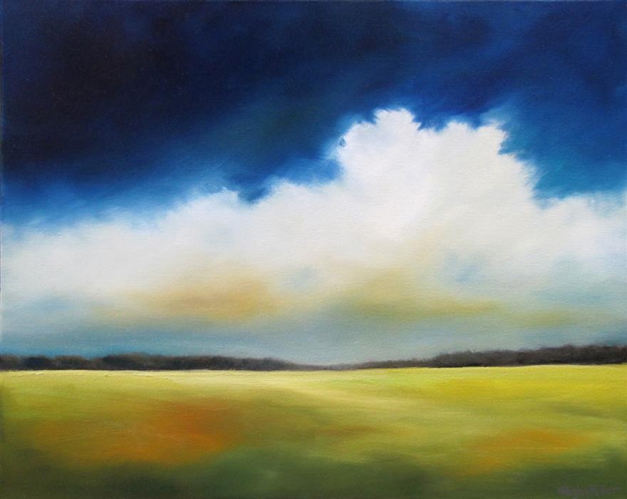 Discover Original Art by Nancy Hughes Miller | Cobalt Sky Cloud oil painting | Art for Sale Online at UGallery