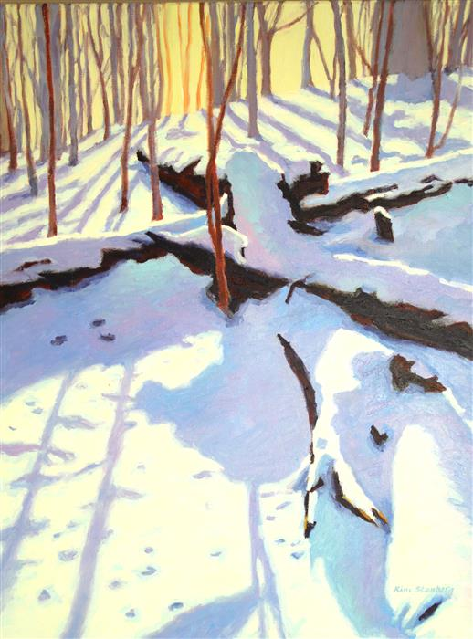 Discover Original Art by Kim Stenberg | Winter Shadows oil painting | Art for Sale Online at UGallery