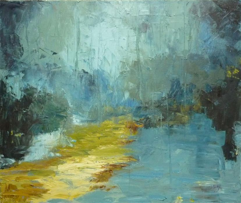 Discover Original Art by Judy Mackey | Rain oil painting | Art for Sale Online at UGallery