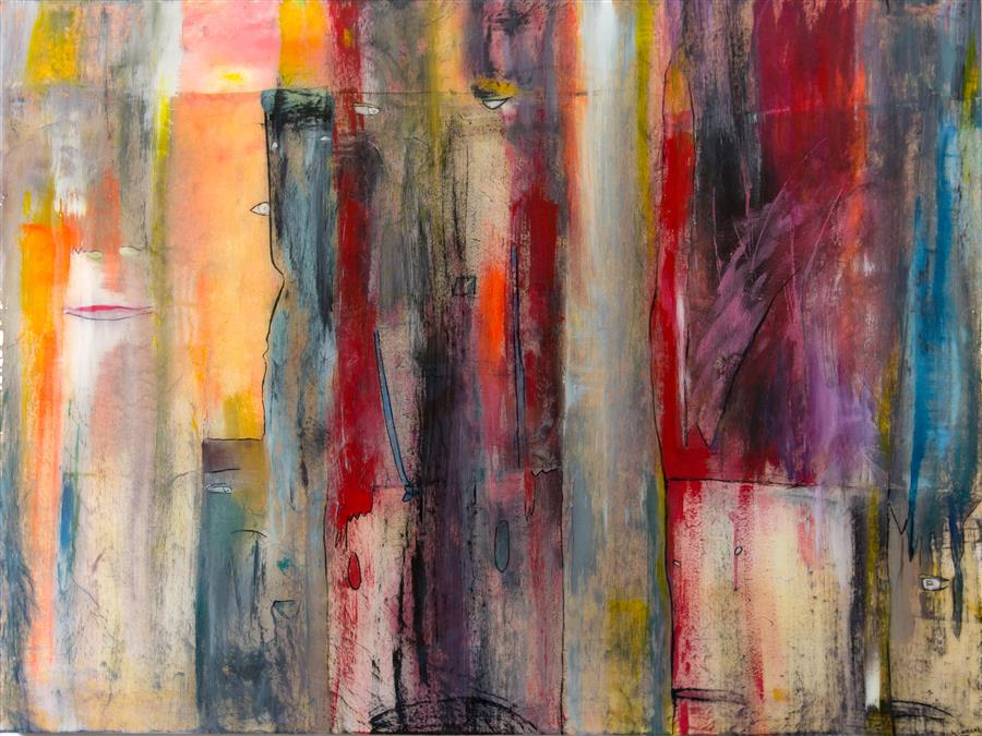 Original art for sale at UGallery.com | Sit-In by J.  CONCETTA | $1,675 | Mixed media artwork | 36' h x 48' w | http://www.ugallery.com/mixed-media-artwork-sit-in