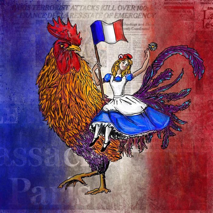 Discover Original Art by Fleur Spolidor | Hope in Paris digital printmaking | Art for Sale Online at UGallery