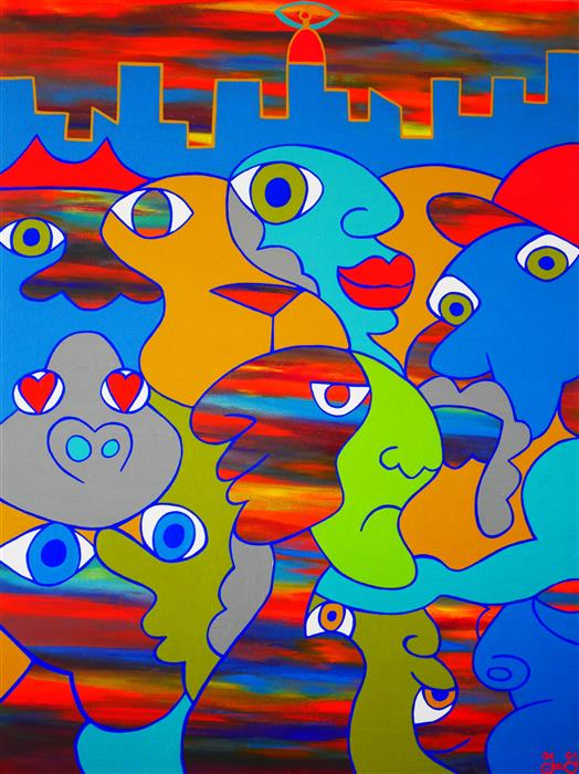 Original art for sale at UGallery.com | Peripheral Visions by JOE GALLAGHER | $2,275 | Acrylic painting | 48' h x 36' w | http://www.ugallery.com/acrylic-painting-peripheral-visions