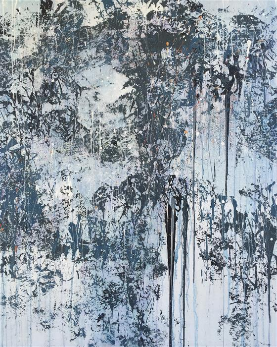 Original art for sale at UGallery.com | White Noise by MARION WOOD | $3,950 | Acrylic painting | 60' h x 48' w | http://www.ugallery.com/acrylic-painting-white-noise