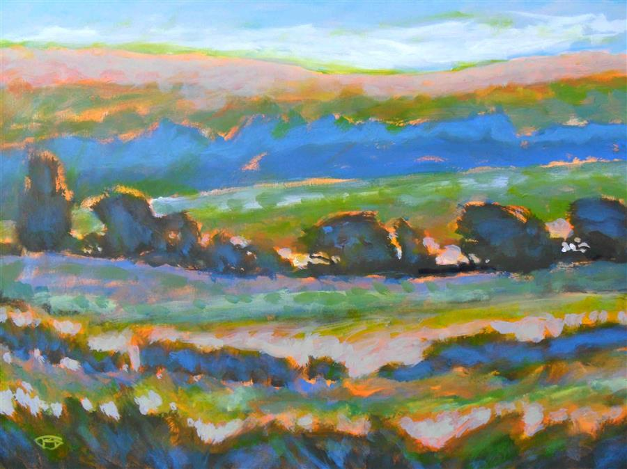 Discover Original Art by Kip Decker | Hillside View 2 acrylic painting | Art for Sale Online at UGallery