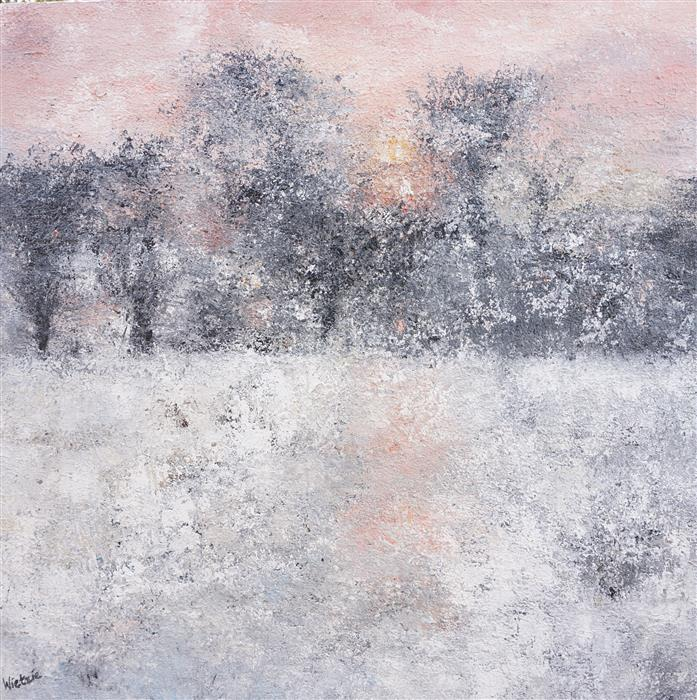 Original art for sale at UGallery.com | Snow Light by WIETZIE GERBER | $1,750 | Acrylic painting | 40' h x 40' w | http://www.ugallery.com/acrylic-painting-snow-light