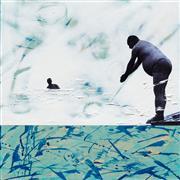 People art,Representational art,Vintage art,mixed media artwork,Making Waves