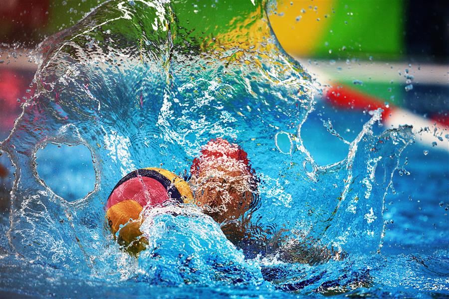Original art for sale at UGallery.com | Women's Water Polo by MARIA PLOTNIKOVA | $145 |  | ' h x ' w | http://www.ugallery.com/photography-women-s-water-polo