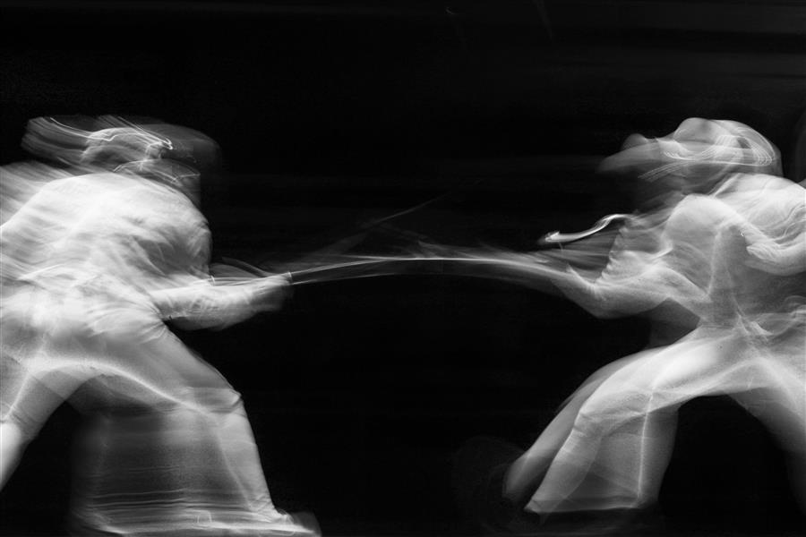 Original art for sale at UGallery.com | Olympic Fencing by MARIA PLOTNIKOVA | $145 |  | ' h x ' w | http://www.ugallery.com/photography-olympic-fencing