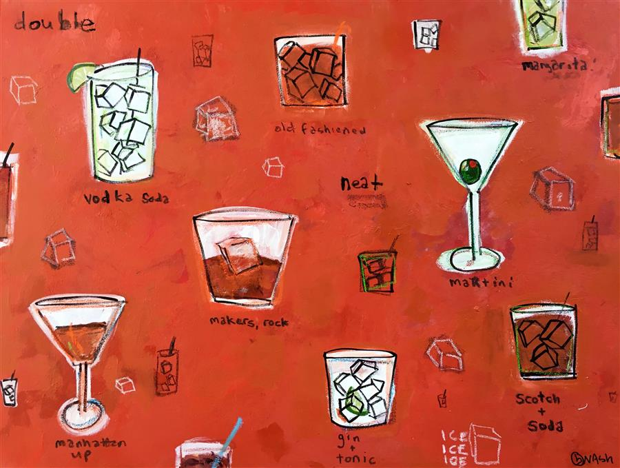 Discover Original Art by Brian Nash | Cocktails acrylic painting | Art for Sale Online at UGallery