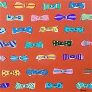 Pop art,Fashion art,Representational art,acrylic painting,Bow Ties