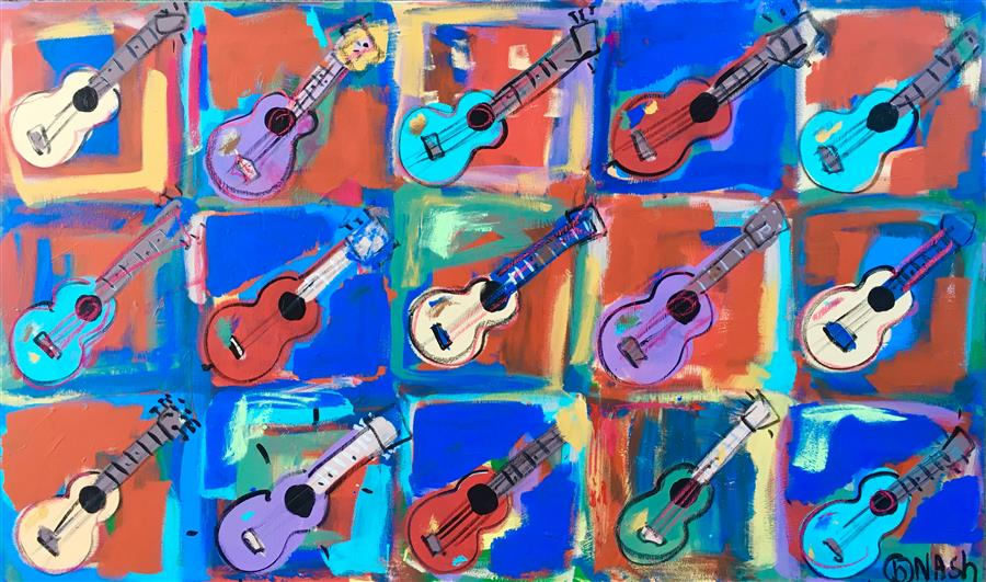 Discover Original Art by Brian Nash | Guitars acrylic painting | Art for Sale Online at UGallery