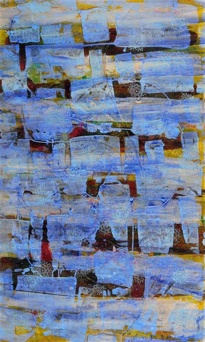 Original art for sale at UGallery.com | Marrakesh by LILAC ABRAMSKY-ARAZI | $1,500 | Acrylic painting | 41.75' h x 25.5' w | http://www.ugallery.com/acrylic-painting-marrakesh