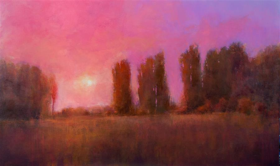 Original art for sale at UGallery.com | End of Summer by DON BISHOP | $2,800 | Acrylic painting | 30' h x 48' w | http://www.ugallery.com/acrylic-painting-end-of-summer